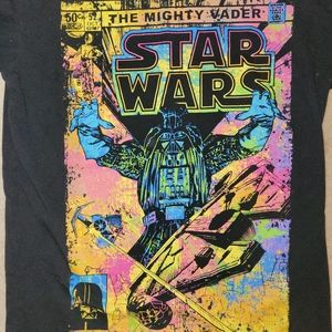 Star Wars Graphic Tee The Mighty Vader Comic Book